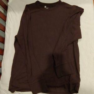 Gap XL brown waffle knit long sleeve shirt